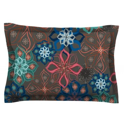 Floral Arrangements by Jolene Heckman Featherweight Pillow Sham Size: Queen, Fabric: Cotton