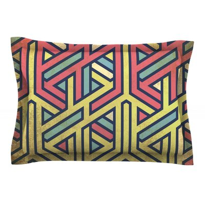 Deco Featherweight Pillow Sham Size: Queen, Fabric: Cotton