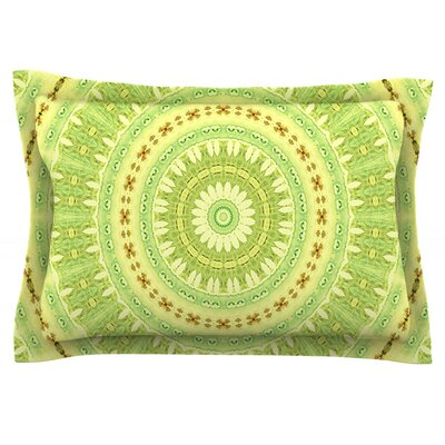 Wheel of Spring by Iris Lehnhardt Featherweight Pillow Sham Size: King, Fabric: Cotton