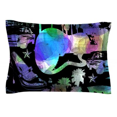 California Dream by Gabriela Fuente Featherweight Pillow Sham Size: King, Fabric: Cotton