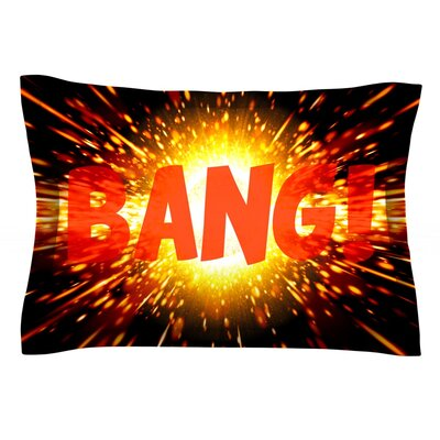 Bang Featherweight Pillow Sham Size: King, Fabric: Cotton