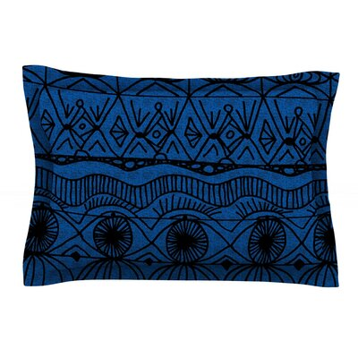 Black and Blue by Catherine Holcombe Featherweight Pillow Sham Size: Queen