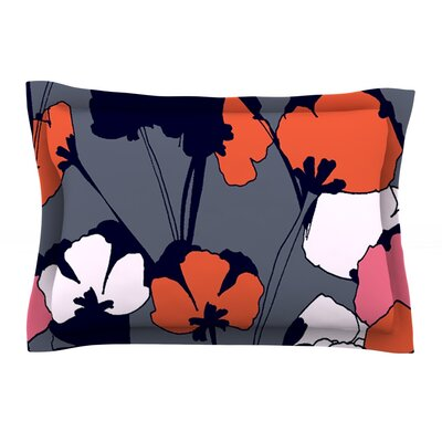 Pop Flowers by Gabriela Fuente Featherweight Pillow Sham Size: Queen, Fabric: Cotton