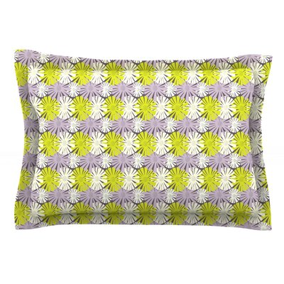 Zinnia by Julie Hamilton Featherweight Pillow Sham Size: King, Fabric: Cotton