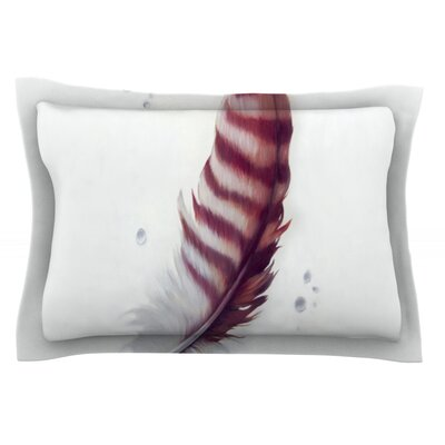 The Feather by Lydia Martin Featherweight Pillow Sham Size: Queen, Fabric: Cotton
