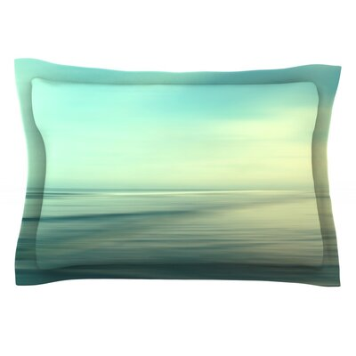 Beach by Sylvia Cook Featherweight Pillow Sham Size: Queen, Fabric: Cotton