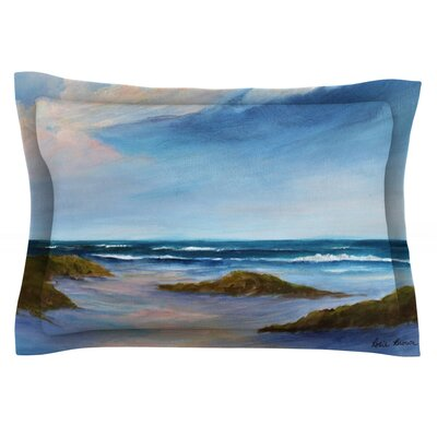 Wet Sand by Rosie Brown Featherweight Pillow Sham Size: Queen, Fabric: Cotton