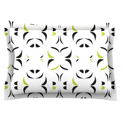 Retro Green Snow Storm by Miranda Mol Featherweight Pillow Sham Size: King, Fabric: Cotton