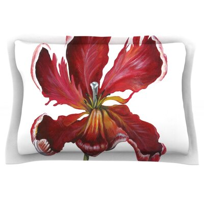 Open Tulip by Lydia Martin Featherweight Pillow Sham Size: King, Fabric: Cotton