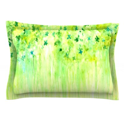 April Showers by Rosie Brown Featherweight Pillow Sham Size: King, Fabric: Cotton