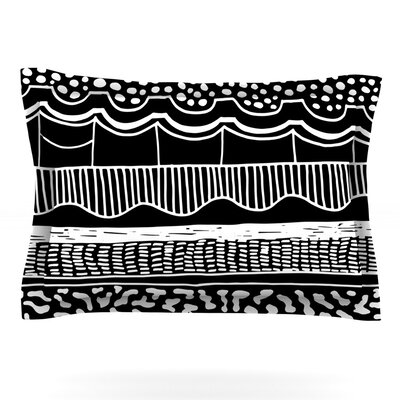 Abiodun Tribal by Vasare Nar Featherweight Pillow Sham Size: King, Fabric: Cotton