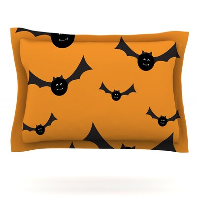 Going Batty Featherweight Pillow Sham Size: Queen, Fabric: Cotton