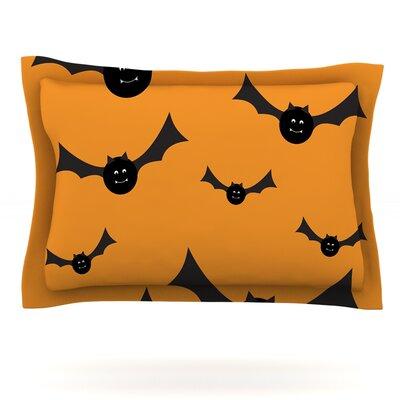 Going Batty Featherweight Pillow Sham Size: King, Fabric: Cotton