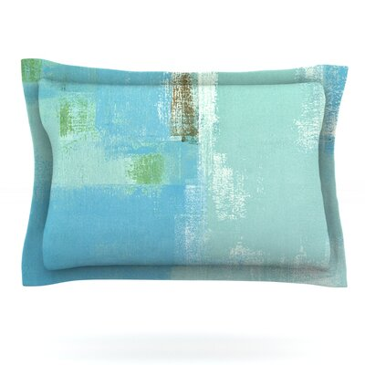 Announced by CarolLynn Tice Featherweight Pillow Sham Size: Queen, Fabric: Cotton