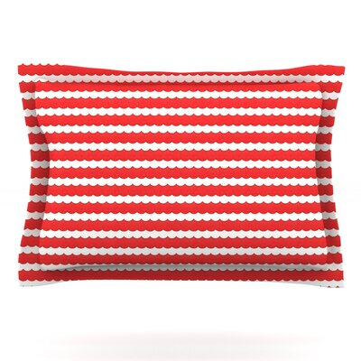 Feeling Festive by Heidi Jennings Pillow Sham Size: Queen, Fabric: Cotton