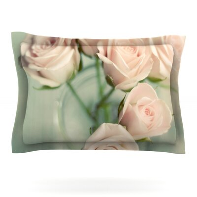Pink Romance by Cristina Mitchell Featherweight Pillow Sham Size: Queen, Fabric: Cotton