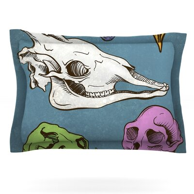 Skulls by Sophy Tuttle Featherweight Pillow Sham Size: King, Fabric: Cotton