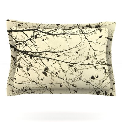 Boughs Neutral by Iris Lehnhardt Featherweight Pillow Sham Size: King, Fabric: Cotton