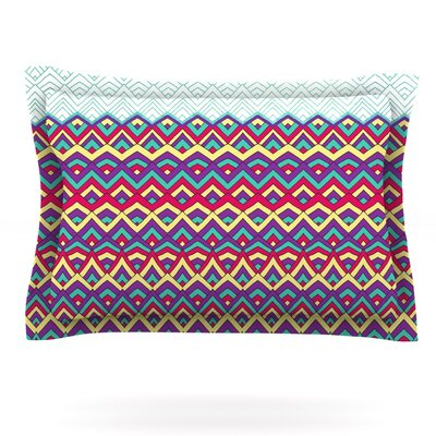 Horizons by Pom Graphic Design Featherweight Pillow Sham Size: Queen, Fabric: Cotton