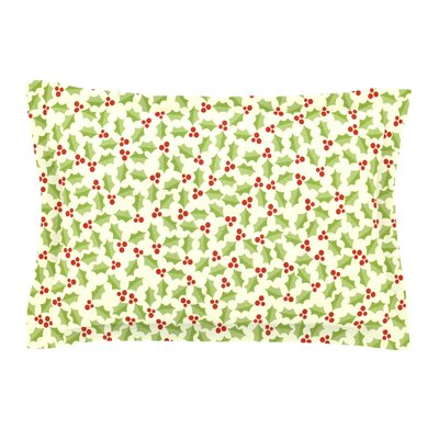 Oh Holly Night by Heidi Jennings Pillow Sham Size: King, Fabric: Cotton