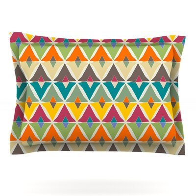 My Diamond by Julia Grifol Featherweight Pillow Sham Size: King, Fabric: Cotton