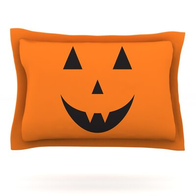 Pumpkin - Treat Featherweight Pillow Sham Size: King, Fabric: Cotton