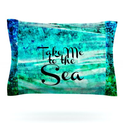 Take Me to the Sea by Ebi Emporium Featherweight Pillow Sham Size: King, Fabric: Cotton