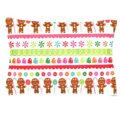 Gumdrop Buttons by Heidi Jennings Pillow Sham Size: Queen, Fabric: Cotton