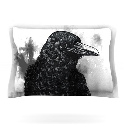 Crow by Sophy Tuttle Featherweight Pillow Sham Size: Queen, Fabric: Cotton