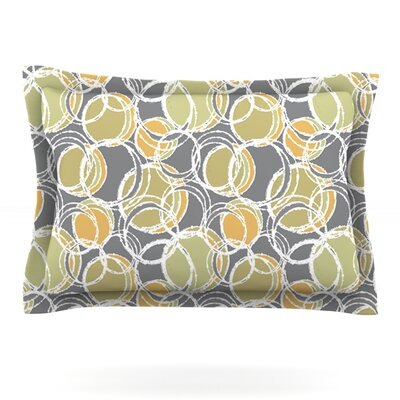 Simple Circles in Gray by Julia Grifol Featherweight Pillow Sham Size: Queen