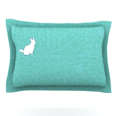 Oliver Teal by Theresa Wear Featherweight Pillow Sham Size: King, Fabric: Woven Polyester