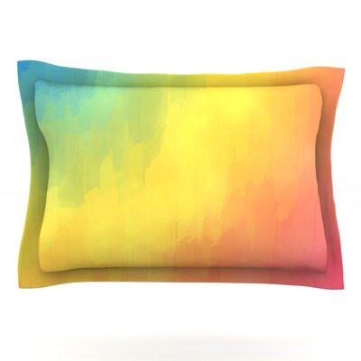 Watercolor Layers by Fotios Pavlopoulos Featherweight Pillow Sham Size: King, Fabric: Cotton