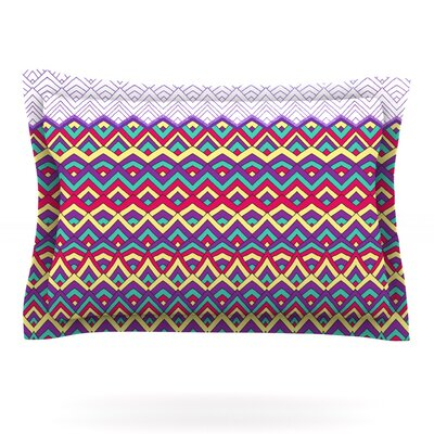 Horizons II by Pom Graphic Design Featherweight Pillow Sham Size: Queen, Fabric: Cotton