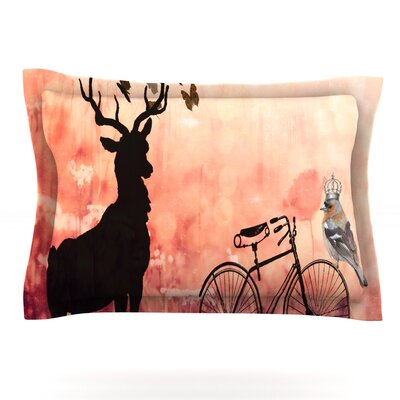 Vintage Forest by Suzanne Carter Featherweight Pillow Sham Size: Queen, Fabric: Cotton