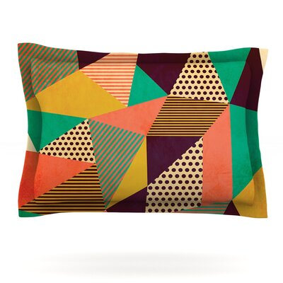 Geometric Love II by Louise Machado Featherweight Pillow Sham Size: King, Fabric: Cotton