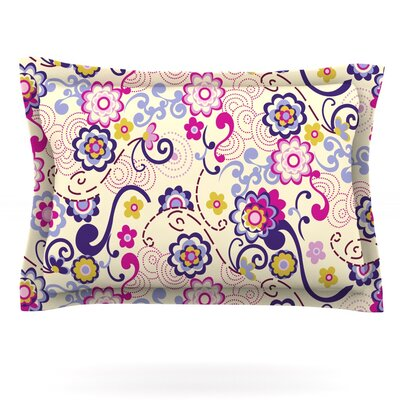 Arabesque by Louise Machado Featherweight Pillow Sham Size: King, Fabric: Cotton