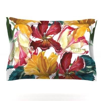 Flower Power by Lydia Martin Featherweight Pillow Sham Size: Queen, Fabric: Cotton