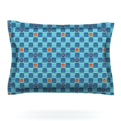 Vintage Checkerboard by Jane Smith Featherweight Pillow Sham Size: Queen, Fabric: Cotton