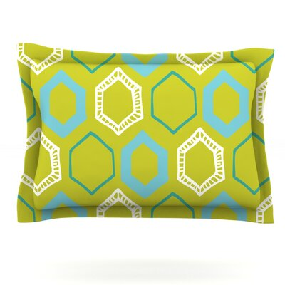 Hexy Lime by Laurie Baars Featherweight Pillow Sham Size: Queen