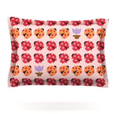 Seasons Spring by Jane Smith Featherweight Pillow Sham Size: King, Fabric: Cotton