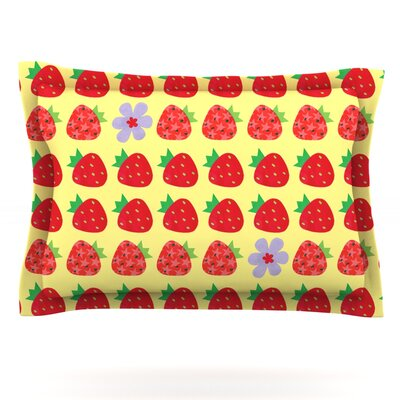 Seasons Summer by Jane Smith Featherweight Pillow Sham Size: King, Fabric: Cotton