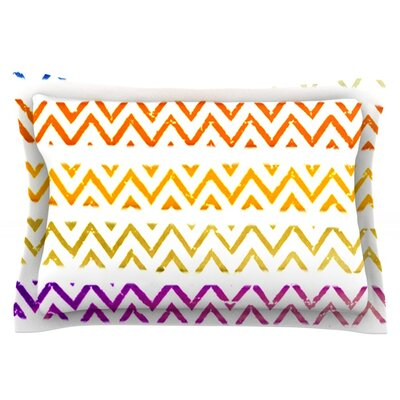 Chevron Add by Sreetama Ray Featherweight Pillow Sham Size: King, Fabric: Cotton
