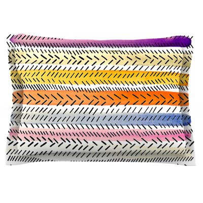Dash 3 by Sreetama Ray Featherweight Pillow Sham Size: King, Fabric: Cotton