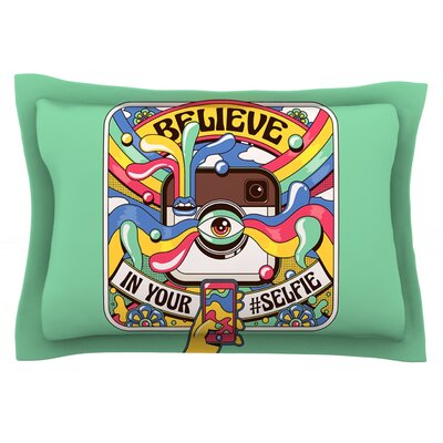 Selfie by Roberlan Featherweight Pillow Sham Size: King, Fabric: Cotton