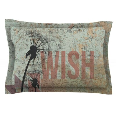 Wish Featherweight Pillow Sham Size: Queen, Fabric: Cotton