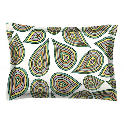 Its Raining Leaves by Pom Graphic Design Featherweight Pillow Sham Size: Queen, Fabric: Cotton
