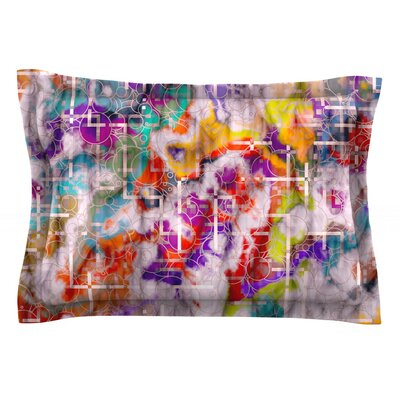 Quantum Foam by Michael Sussna Featherweight Pillow Sham Size: Queen, Fabric: Cotton
