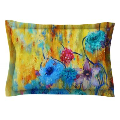 Cosmic Love Garden by Sonal Nathwani Featherweight Pillow Sham Size: King, Fabric: Cotton