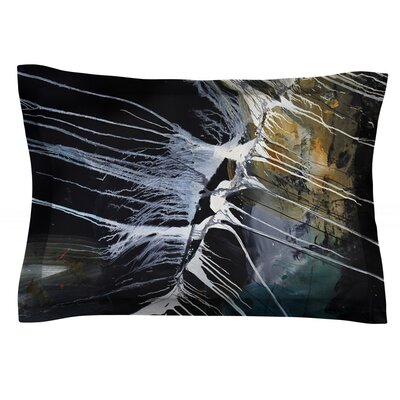 Bones by Steve Dix Featherweight Pillow Sham Size: King, Fabric: Cotton