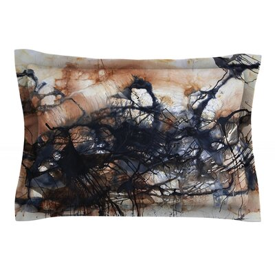 Looking for Water by Steve Dix Featherweight Pillow Sham Size: Queen, Fabric: Cotton
